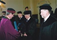 Přebírání čestného doktorátu na VUT Brno, Brno, 2006