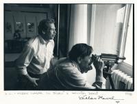 Václav Havel a Miroslav Masák, 1990