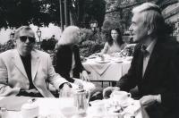 Václav Havel a Miroslav Masák, Wachau, 2004