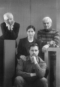 Manželka Eva Benadová-Masáková, Miroslav Masák, dcera Anna Masáková, vnuk Petr Tajčman, 1995