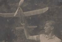 Josef Mevald jako letecký modelář