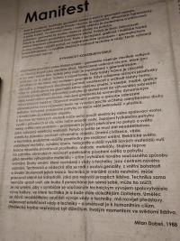 Manifest dynamického konštruktivizmu Múzeum Milana Dobeša Ostrava Vítkovice