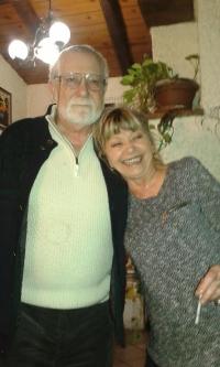 Magda s manželem Cesarem Fischettim, Milán 2015