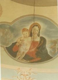 Malba Magdy v kapličce u Stropkova,1961