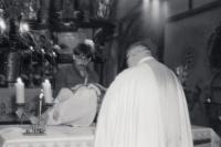 Miloslav Trégl při křtu dcery Veroniky (1981)