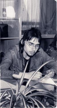 Miloslav Trégl na soutěži mládeže během studia učebního oboru (rok 1977)