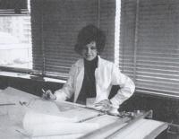Konečně získává práci, Magda ve Studio di progettazione, Milán 1973