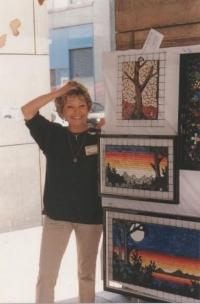 Magdina první výstava, Piazza Duomo, Milán 2000