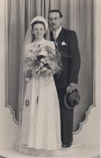 Rodiče pamětníka Vlasta a Jindřich Grubhofferovi