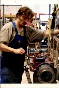 Martin Fejfárek zaměstnaný ve firmě Linde v Českém Krumlově, cca 2008