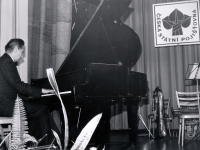 Karel Pexidr playing at a Revolutionary Union Movement (ROH) celebration; 1979