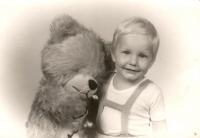 Martin Fejfárek jako dvouletý chlapec