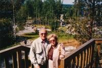 Manželé Jitka a Jiří Havlovi na dovolené ve Finsku, 1986