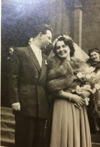 svadba v Kostole u Svätého Antonína v Prahe 17.3.1951
