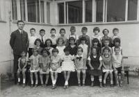 Školní fotografie, 1. třída