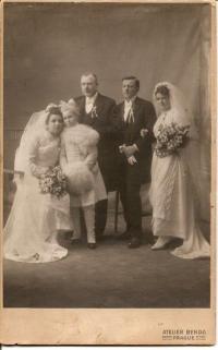 Wedding of Václav Svoboda the Elder (father's witness) and Marie Štrosová, daughter of Stanislav from the first marriage