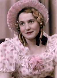 Josefa Moníková Pexidrová, Karel Pexidr´s mother, a hand-coloured photo