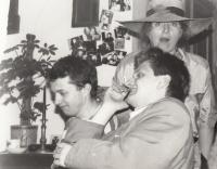 With Pavel Šafr and a photographer Hana Mahlerová