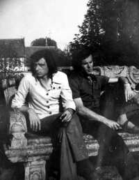 Vladimír Šiler on left with a friend Plotzer in 1970s