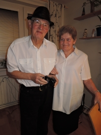 Rodiče Jana, Edvard a Hermína Lachmanovi, Vánoce 2016