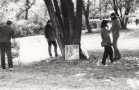 Uničovské parky, výstava asi roku 1987/1988