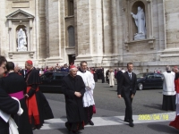 An inconspicuous Cardinal Joseph Ratzinger, the future pope, before the opening of the conclave at which he was elected the successor of John Paul II., April 2005