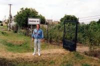 Jiří Barteček v Záhorské Vsi na Slovensku / léto 1990