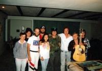 Kapela Greenhorns u Jiřího Bartečka doma v Los Angeles / jaro 1990
