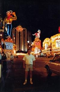 Jiří Barteček na snímku v Las Vegas / pravděpodobně 1987