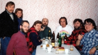 Kapela Greenhorns u Bartečkových na návštěvě v Dětmarovicích / 1990