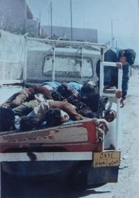 Halbdža po útoku irácké armády  během povstání Kurdů v roce 1992