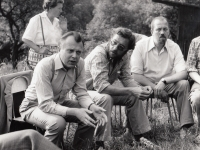 Jan Dus, ZB, Miloslav Vašina at the beginning of 1980s