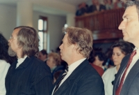 Václav Havel in Chotiněves in 1990