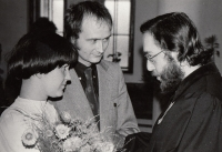 ZB marries Libuše Černá and Tilman Rothermel on 8 April 1977 in Chotiněves