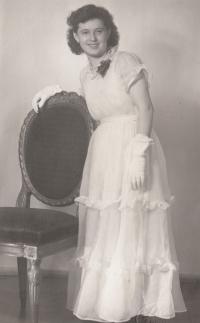 Bohumila Jindrová v tanečních roku 1951