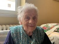 pamätníčka Paulína Dubeňová dnes ako 97 ročná