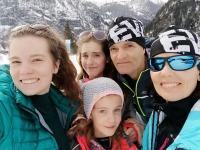 Lachmanovi na lyžích v Rakousku, 2019