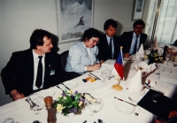 Na ministerstvu vnitra v roce 1991