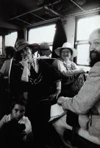 Na výletě v Bechyni s J. Bělíkovou a A. Stankovičem v roce 1986