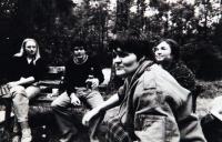 Petruška Šustrová s A. Kumprechtovou, V. Malým a A. Boťovou v roce 1979