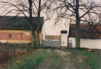 Příjezdová cesta do statku Tučkových v Bučovicích