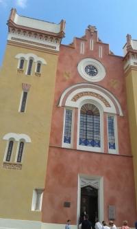 Opravená synagoga (2019) v Nové Cerekvi na Vysočině, odkud pocházela rodina Petra Broda z tatínkovy strany