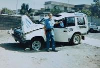 V misi OSN v Iráku u auta, které dostalo zásah, při němž došlo k vážnému zranění Ladislava Vitoula