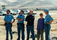 S kolegy z mise v Iráku, 1996