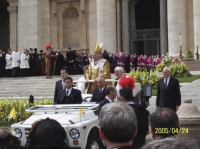 The inauguration of the Pope Benedict XVI., April 24, 2005