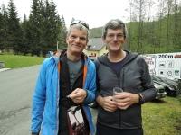 Bratři Jan a Tomáš na společném výletě na Ostrý, 2019