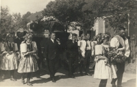 Pohřeb Jaroslava, nejmladšího bratra tatínka Františka Šestáka