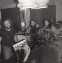 Trutnov kino, s manželkou, 1979