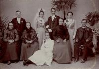 Svatba prarodičů, Anna Kocfeldová a Fr. Pastrnek, 1902