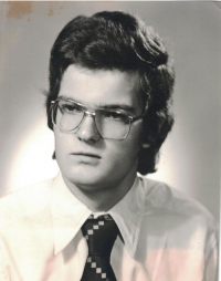 Jan Lachman coby maturant, 1977